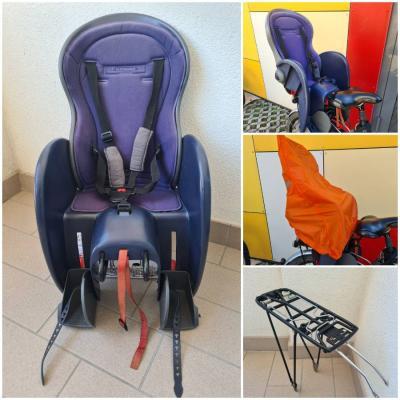Fahrradsitz&Gepäcksträger+Regenschutz - thumb