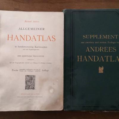 Atlas - Richard Adrees 1887 komplett mit Supplement 1893 - thumb