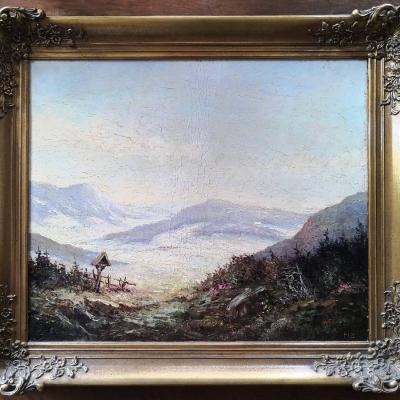 Original Öl Bild, gerahmt, alt - thumb