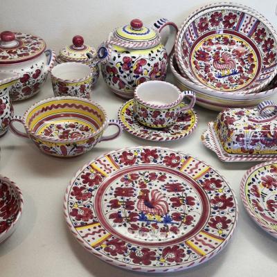 Deruta handgemalte Keramik 59 Teile - thumb