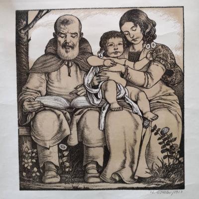Lithographien von Heinrich Göttler (1890 - 1969) - thumb