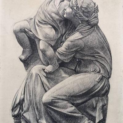 Zeichnung von Heinrich Göttler (1890 - 1969) - thumb