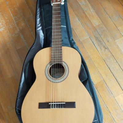 Klassische Gitarre und Hülle - thumb
