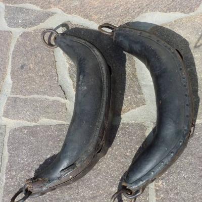 ⭐ Stirnjoch ⭐ Ochsenjoch mit Strangseil, bäuerliche Deko - thumb