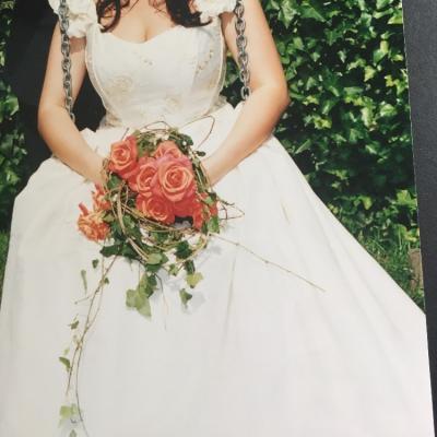 Zweiteiliges Hochzeitskleid - thumb