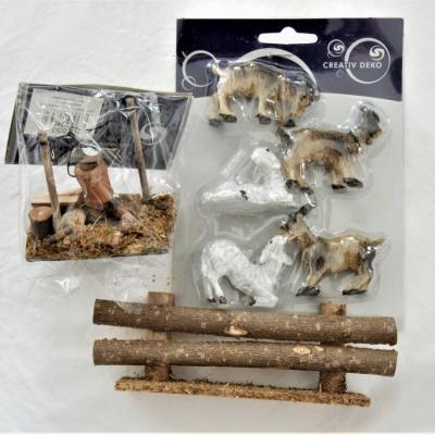 Schafe/Ziegen, Feuerstelle und Zaun - thumb