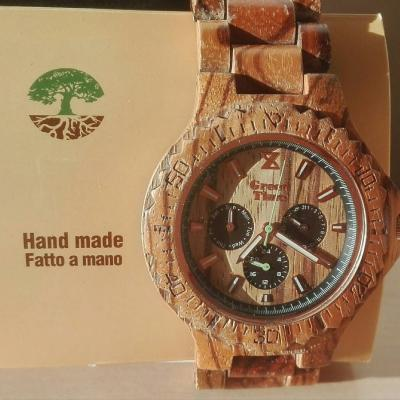 Holzarmbanduhr für Männer - thumb