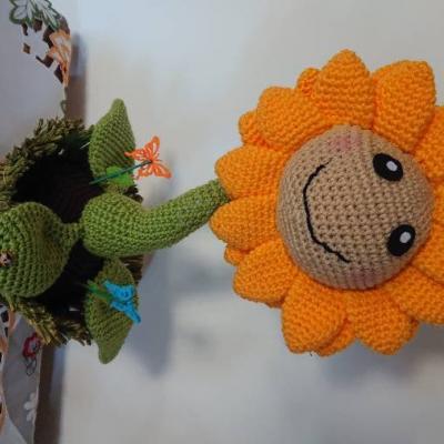 Mit ♥️ gehäkelte Sonnenblume 🌻 - thumb