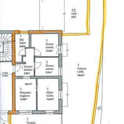 Mietwohnung - 3 Zimmer - zentrumsnahe Lage - mit Garten und Terrasse - thumb