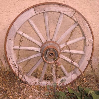 Wagenrad Holz - thumb