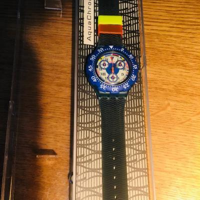 Neue Chrono Swatch Uhr originalverpackt aus Sammlung - thumb