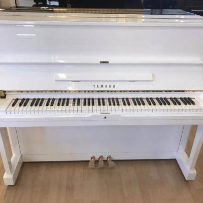 YAMAHA Klavier U 1, weiß poliert- kostenlose Lieferung! (*) - thumb
