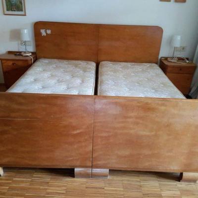 Doppelbett Massivholz zu Verschenken - thumb