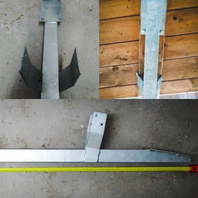 Verzinkte Eisenträger für Vordach - thumb