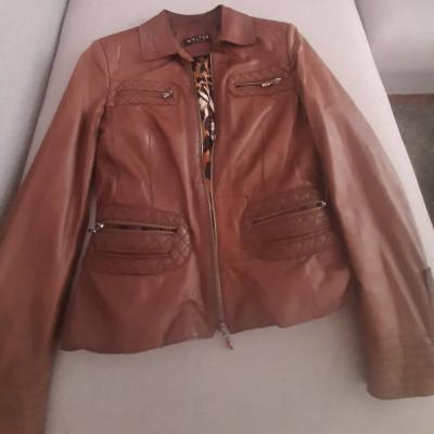 Cognacbraun Damenlederjacke im Vintagestyle Gr.42 zu verkaufen - thumb