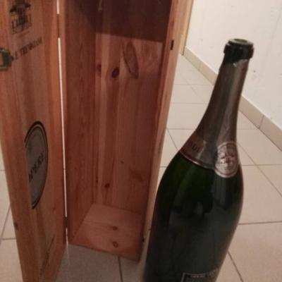 Holzbox mit Flasche - thumb