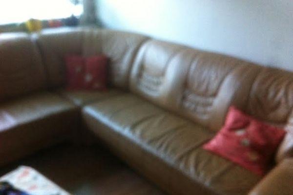 echtleder eck sofa wie neue abzugeben