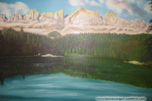 Karrersee auf Leinwand
