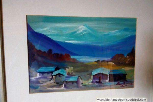 Dorf mit Berglandschaft