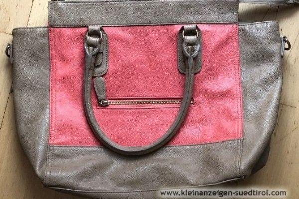 Handtasche in beige/apricot zu verkaufen