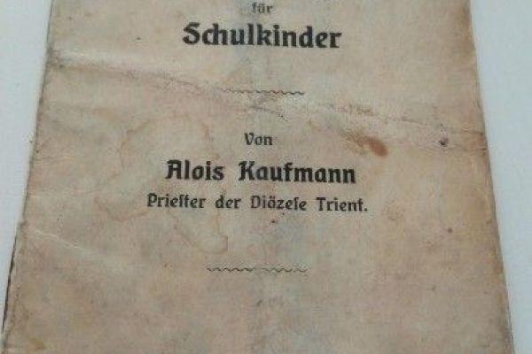 Antikes Komunion Gebetsbuchlein für Schulkinder
