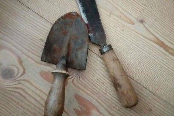 Antike Gartenwerkzeug