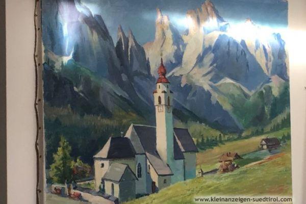 Landschaftsbild Öl auf Leinen