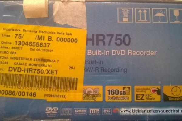 DVD HDD Recorder Samsung