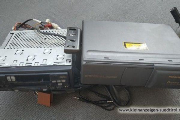 Verkaufe Panasonic-Autoradio mit 6fach-CD-Wechsler