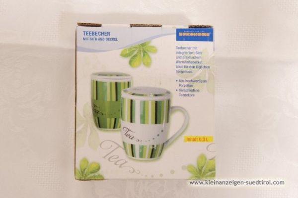 Grün/weiße Teetasse