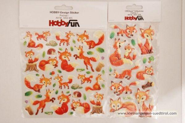 Sticker mit Füchse 2