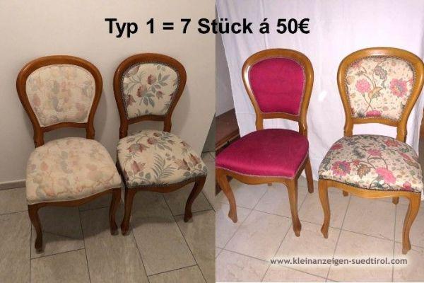 Verschiedene elegante Stühle/Sessel zu verkaufen