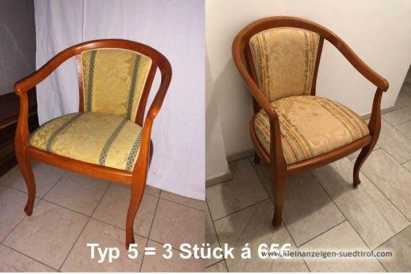 Verschiedene Stühle zu verkaufen.
