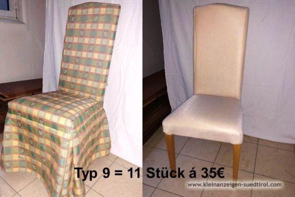 Verschiedene Stühle und Sessel zu verkaufen