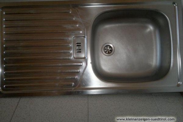 INOX Küchenspülbecken, 86 x 43 cm, mit Zubehör