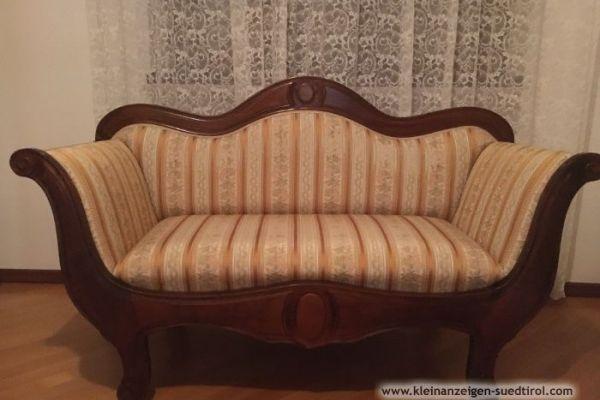 Sofa handgemacht aus Nussbaum Holz dunkel