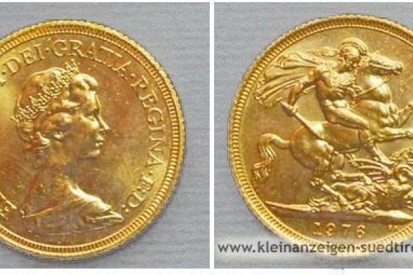 Gold-MÜNZE Pfund Sterling