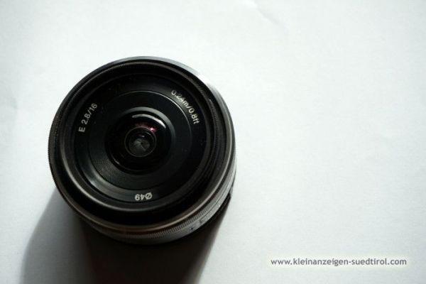 Objektiv SONY E-APS-C 16/2.8 E SEL + Filter