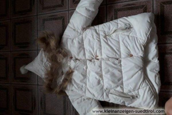 Winterjacke Mädchen weiss