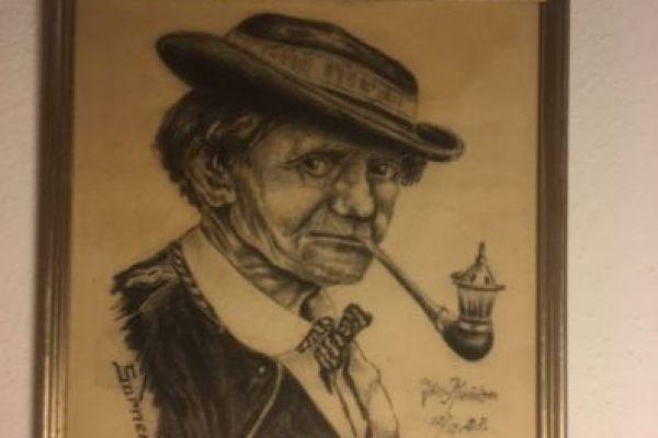 Portrait eines Sarners (Bleistiftzeichnung 1928)