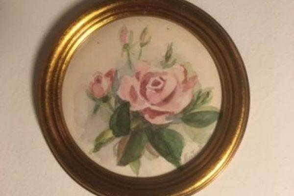 Kleines Blumenbild in Goldrahmen