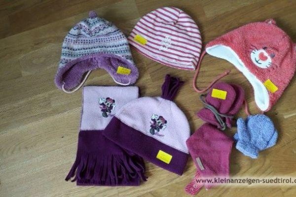 Mützen und Handschuhe für Mädchen, versch. Größen