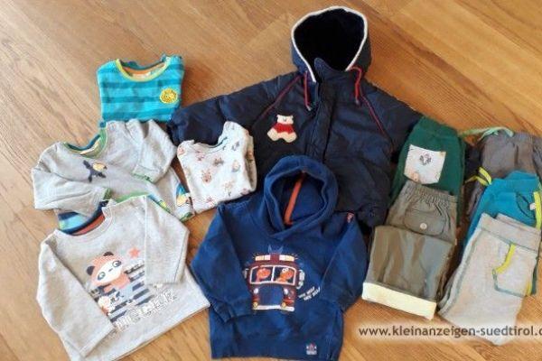 Kinderkleidung für Jungen und Winterjacke, Gr. 86