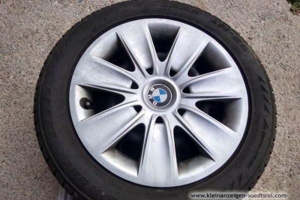 Winterreifen auf Stahlfelgen für 3er BMW