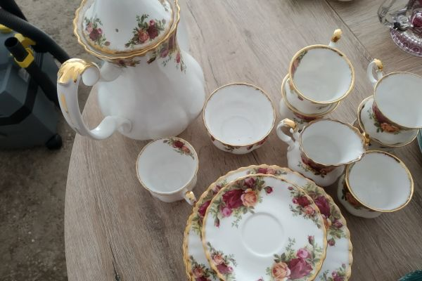 Royal Albert old country roses, Kaffegeschirr