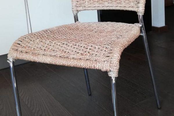Trend-Esszimmerstühle aus Korbgeflecht günstig zu verkaufen!