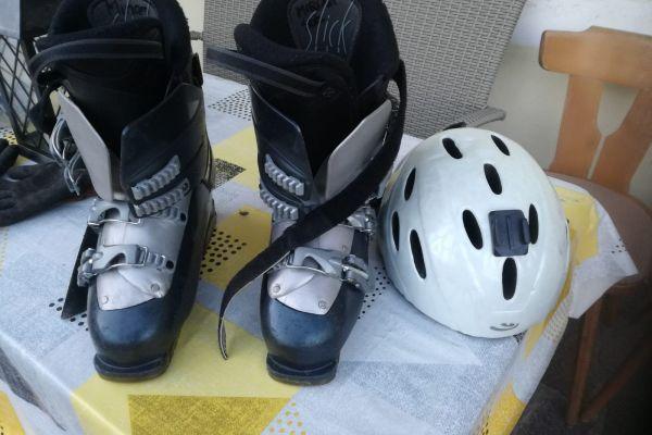 Ski und Snowboard u. Skihelm
