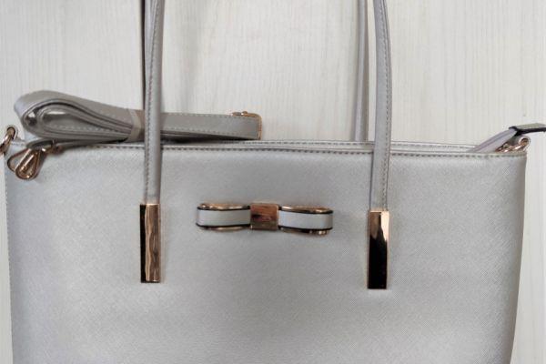 Tragetasche Silber/Gold
