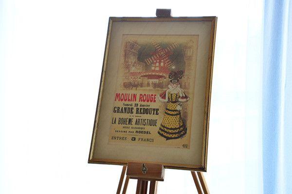 Moulin Rouge Poster mit Bildrahmen