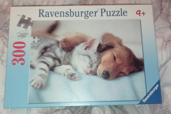 Ravensburger Puzzle Süße Träume -- Hund und Katze